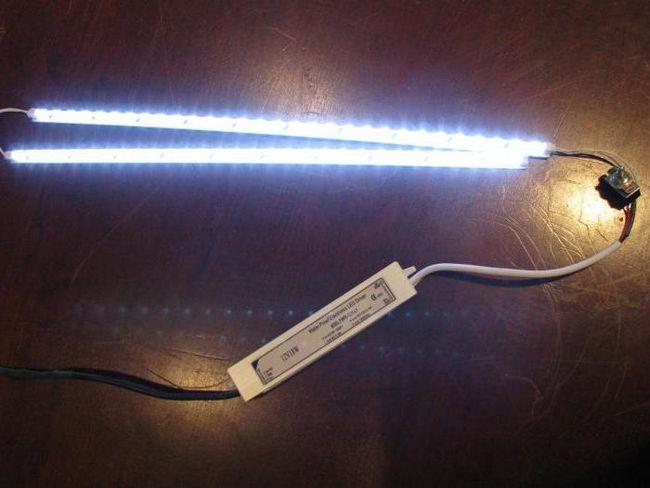 Підключення двох світлодіодних стрічок