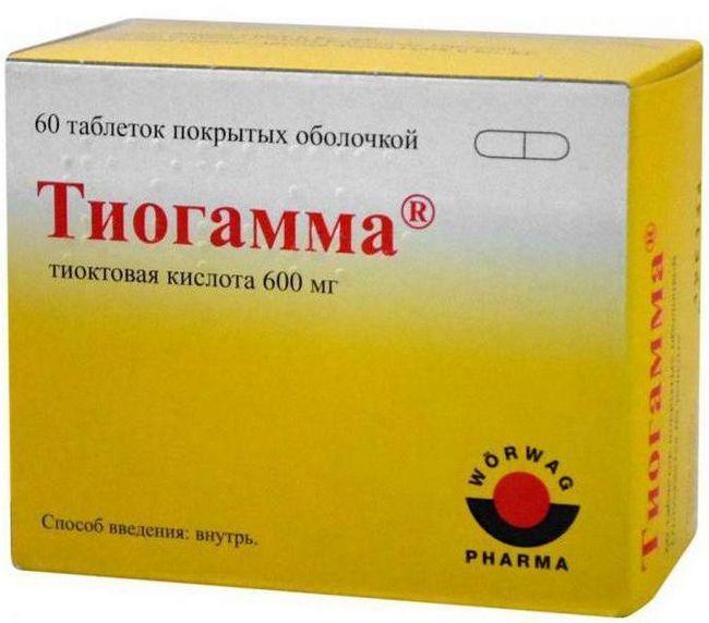 Тіоктацід 600 бв інструкція із застосування складу