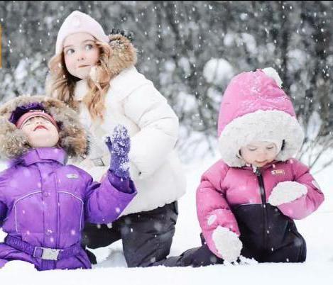 дитячі зимові комбінезони nels
