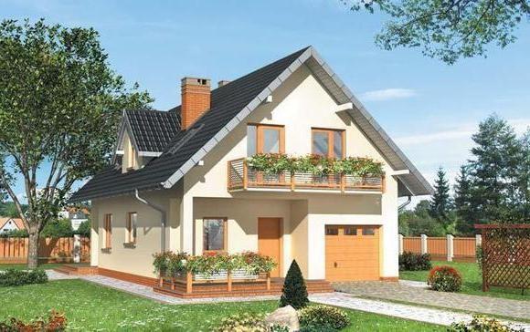 проекти дерев'яних будинків з мансардою та гаражем