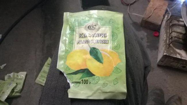 Промивання радіатора грубки лимонною кислотою