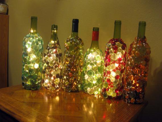 що зробити з скляних пляшок