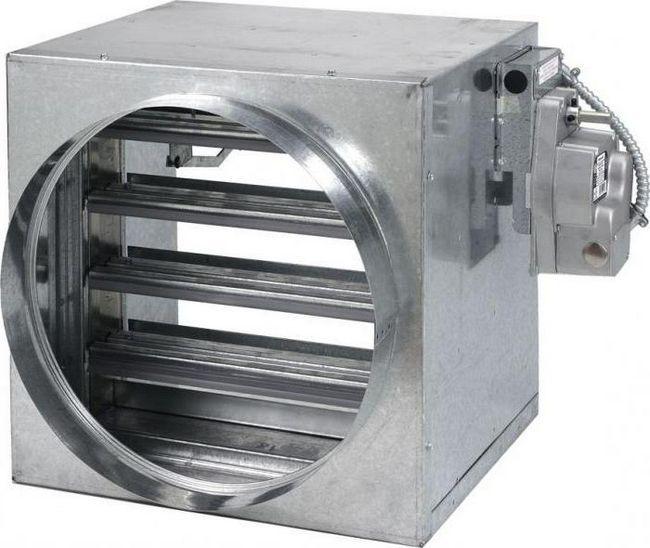 установка протипожежного клапана