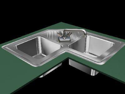кутова мийка для кухні розміри тумби