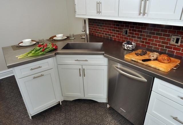 кутова мийка для кухні фото розміри
