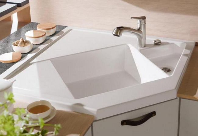 кутова мийка для кухні розміри