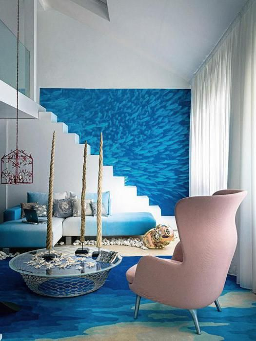 Фото - Різнобарвна морська галька. Оздоблення стін морською галькою