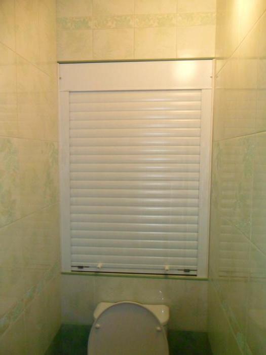 рольставні для сантехнічної шафи в туалеті