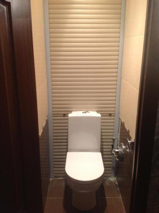 рольставні для шафи в туалеті