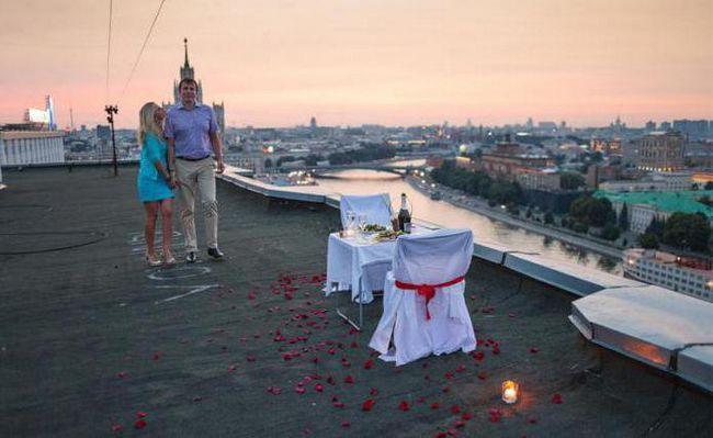 романтичний вечір для двох в москві взимку