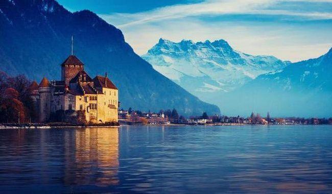 Женевське озеро швейцарія
