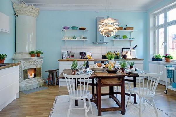 ідеї фарбування стін на кухні