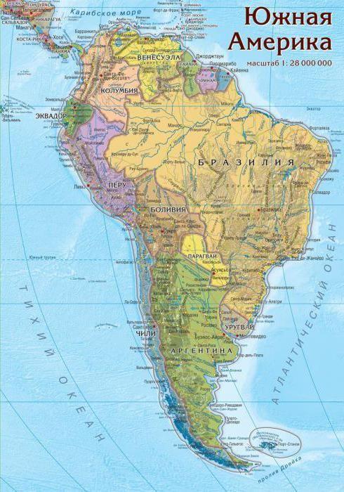 країни Південної Америки за площею