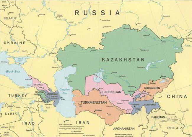 країни з якими межує росія на півдні