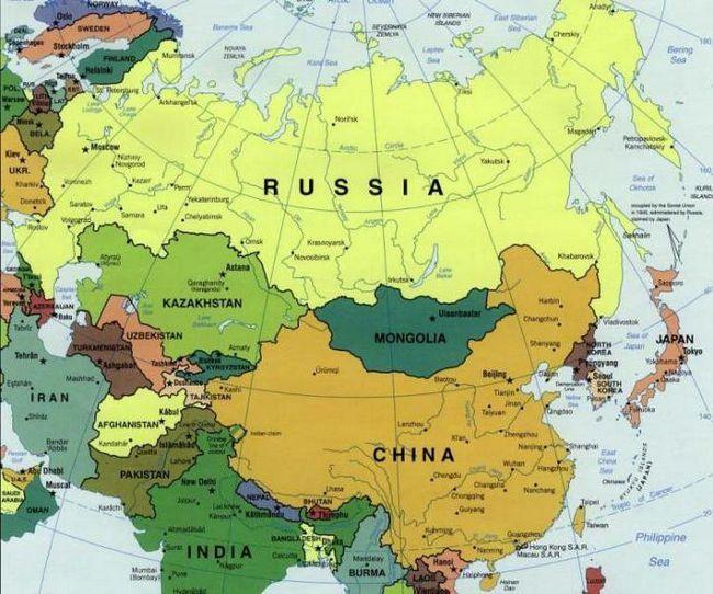 країни з якими межує росія на сході