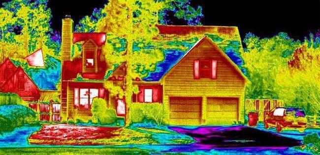 Фото - Тепловізійні обстеження. Втрата тепла в житлових будинках