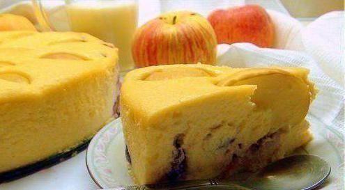 сирна запіканка в духовці з яблуками