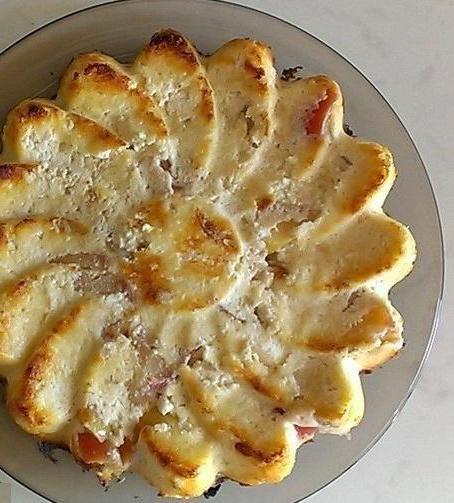 сирна запіканка з яблуками в духовці