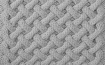 візерунок плетінка спицями
