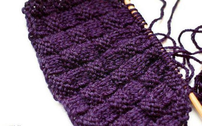 як зв'язати візерунок плетінка спицями