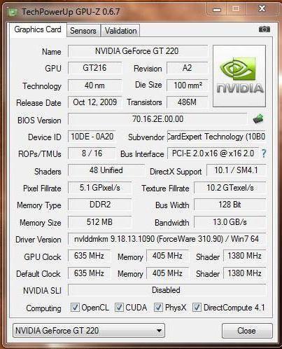 відеокарта NVIDIA GeForce GT 220