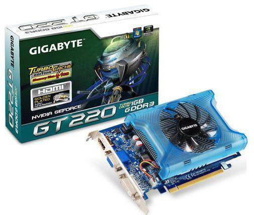 NVIDIA GeForce GT 220 технічні характеристики