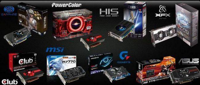 відеокарта AMD Radeon HD 7770 series