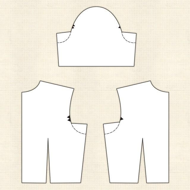 викрійка піджака жіночого без коміра