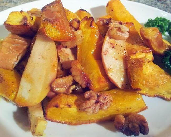 Фото - Запечена гарбуз з яблуками в духовці - смачний і корисний десерт
